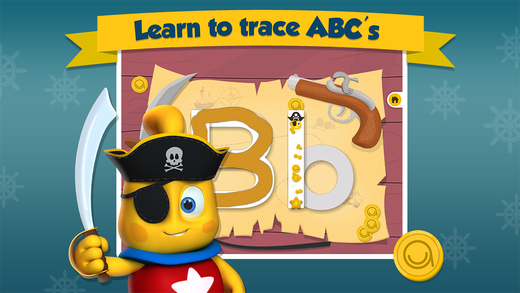 Gold Trace - Icky The Pirate's Treasure Trace Learn Upper Lowercase ABC - Lesson 3 of 3