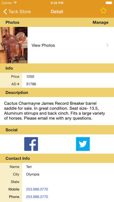 Tack Store iPhone Screenshot 3