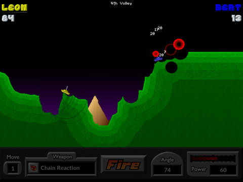 Screenshot 1 Pocket Tanks