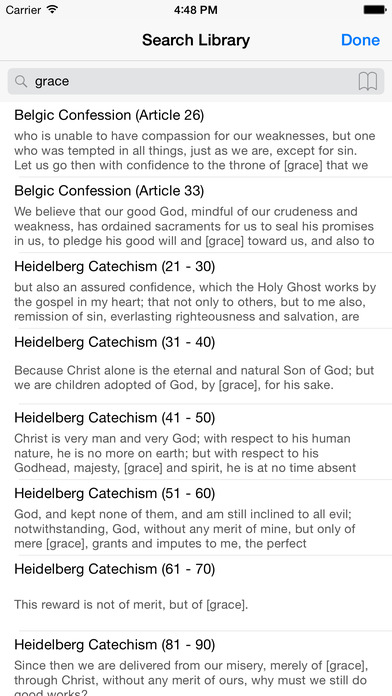 Christian Creeds and Reformed Confessions iPhone Screenshot 2