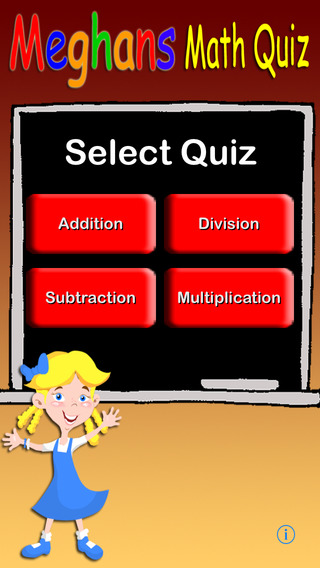 Meghan's Math Quiz iPhone Screenshot 1