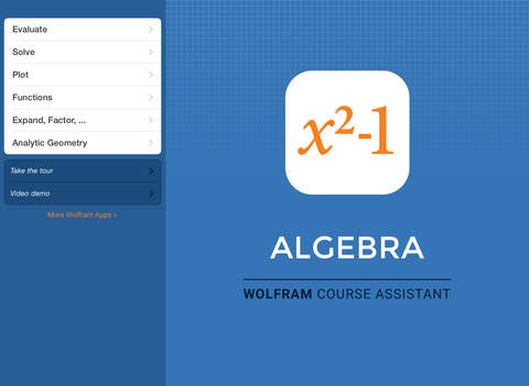 Wolfram Algebra Course Assistant screenshot