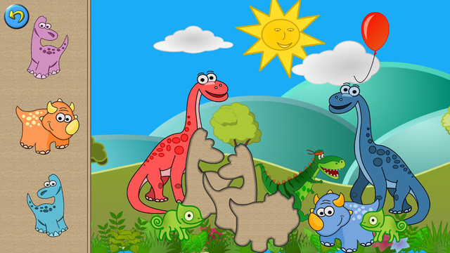 Dino Puzzle Games - Dinosaur Puzzles for Kids and Toddler - Tiltan Preschool Learning Games