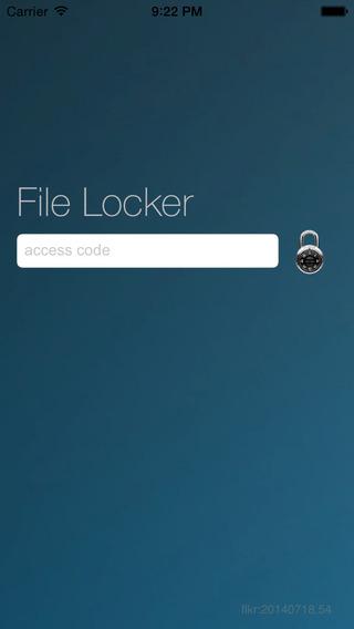 File Locker iPhone Screenshot 1