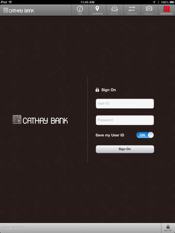 Cathay Bank for iPad