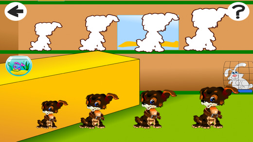 Animated Kids Learn-ing Game-s in The Pet Store with Small Animal-s Sort-ing by Size Find Objects