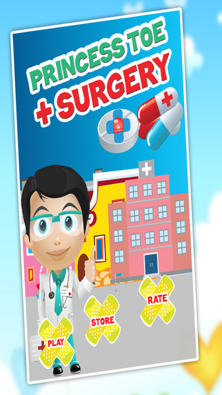 Princess Toe Surgery - Crazy doctor care and foot surgeon game for kids
