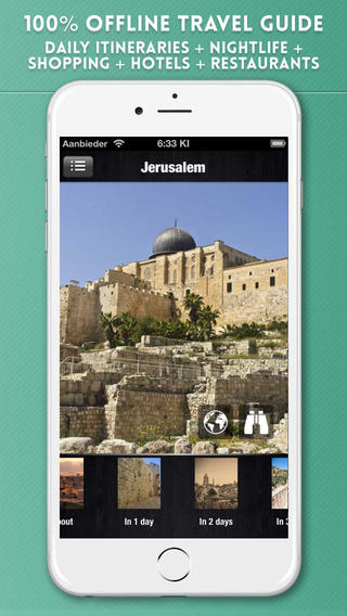 Jerusalem Travel Guide with Offline City Street Maps