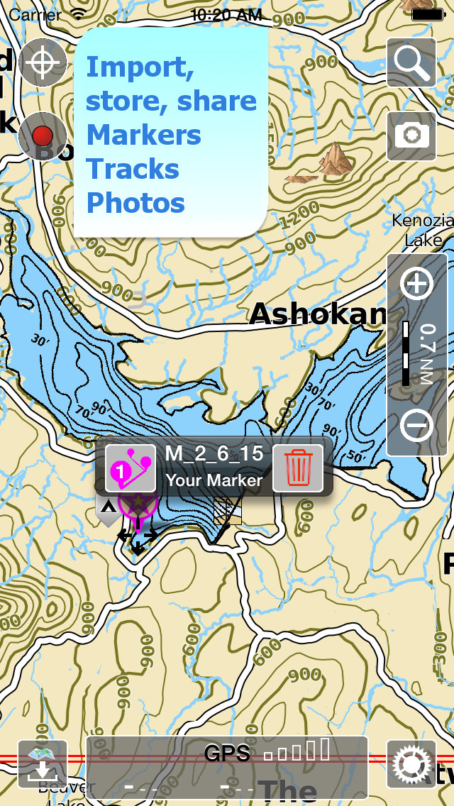 Aqua Map New York - Lakes GPS Offline Nautical Charts