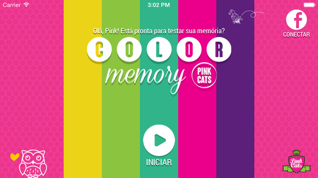 Color Memory Pink Cats