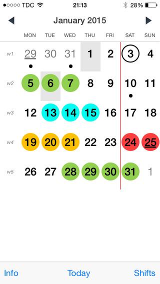 NightShift Calendar