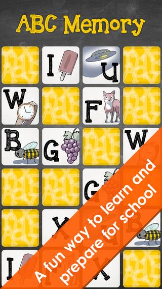 ABC Memory - Capital letters UK english