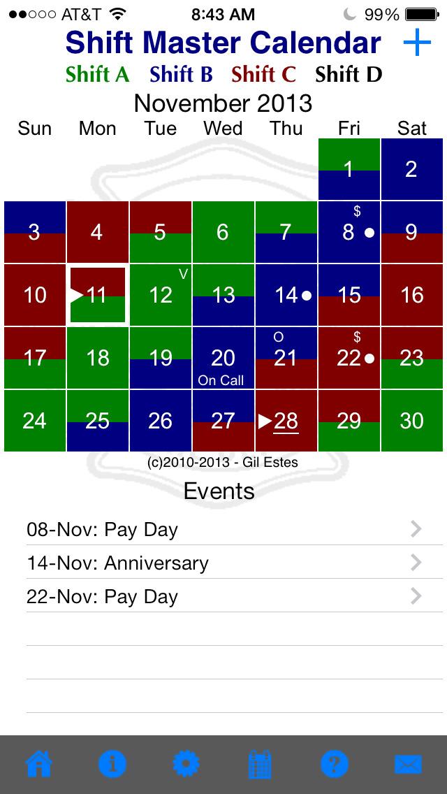 Calendar Planner App : Shift master calendar best apps and games