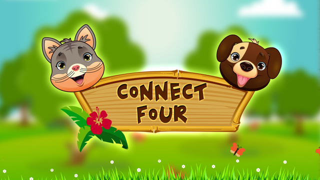 Cats and Dogs Connect-4 Game