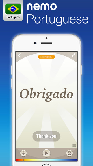 Brazilian Portuguese by Nemo – Free Language Learning App for iPhone and iPad