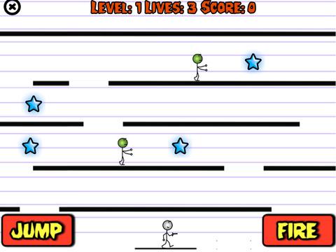 Stick Man vs Zombies iPad Screenshot 1