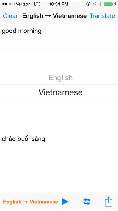 English Vietnamese Translator with Voice iPhone Screenshot 2