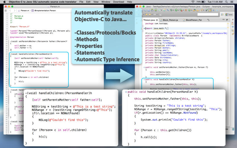 Objective-C to Java - O2J automatic source code translator Screenshot - 2