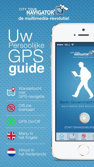 Berlijn Regeringswijk: audio-guide en video guide interactieve multimedia gids GPS wandeltocht met o