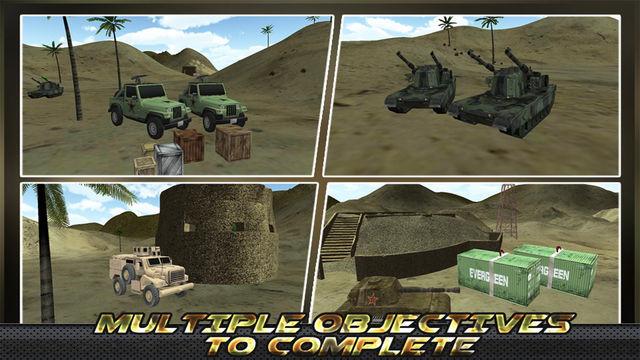 Army Truck Cargo Transport 3D: Desert War Machines