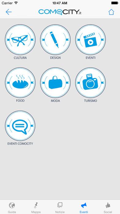 ComoCity iPhone Screenshot 1