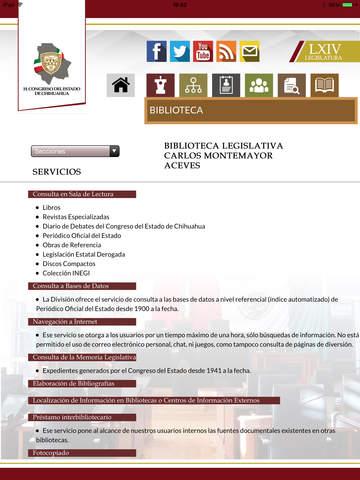 Congreso Chihuahua para iPad