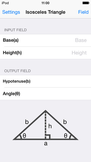 Isosceles Triangle Calculator