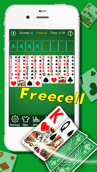 A¹ Freecell Solitaire -Ultimate Full Desk Cards Puzzle Game
