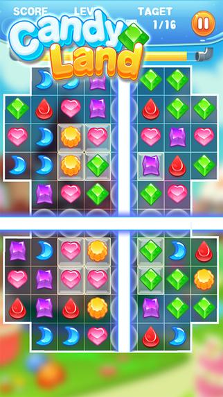 Candy Land: match 3 puzzle