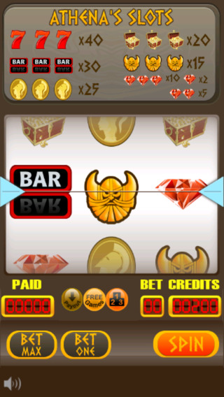 Athena's Slots - Free Casino Slot Machine