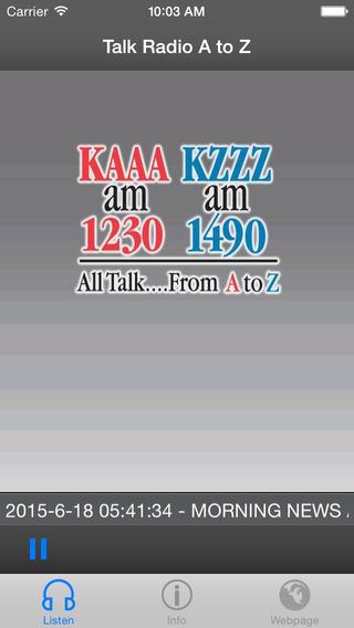 Talk Radio A to Z