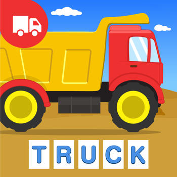 First Words Trucks and Things That Go - Educational Alphabet Shape Puzzle for Toddlers and Preschool Kids Learning ABCs Free LOGO-APP點子