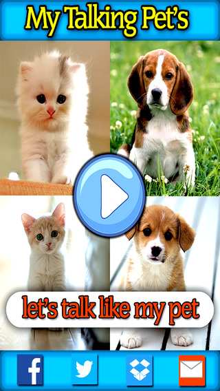 My Pet can Talk - Let's make the pet's alive like funny Top Hit app FREE