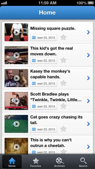 Screenshots for Wimp.com - Family Friendly Videos