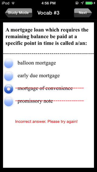 Illinois Real Estate Exam Prep iPhone Screenshot 3