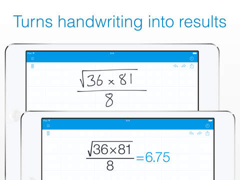 MyScript Calculator - Handwriting calculator screenshot