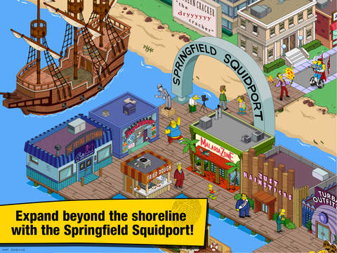 Screenshots of The Simpsons™: Tapped Out for iPad