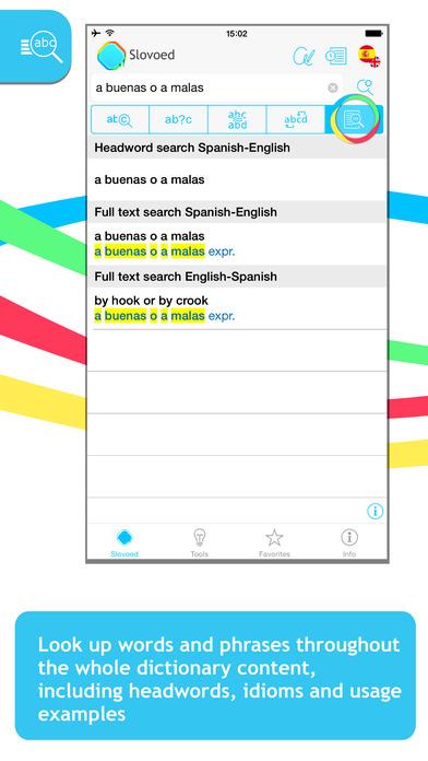 Spanish <-> English Talking SlovoEd Compact Dictionary iPhone Screenshot 2