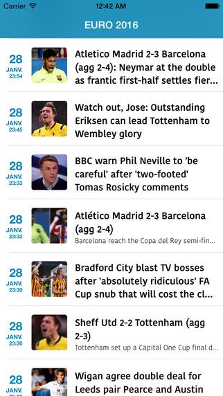 Euro 2016 : news calendar stats ranking results