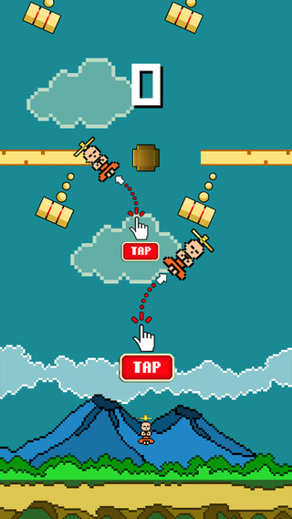 Tiny Monk Copter - Play Free 8-bit Retro Pixel Helicopter Games
