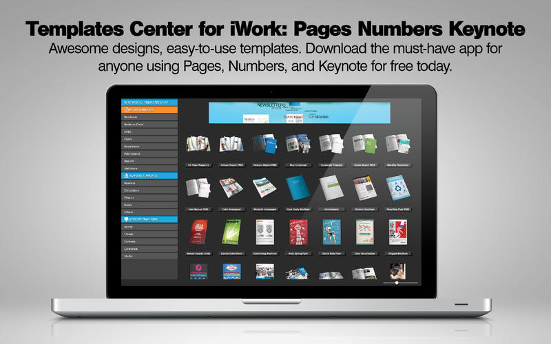 Templates Center for iWork Screenshot - 1