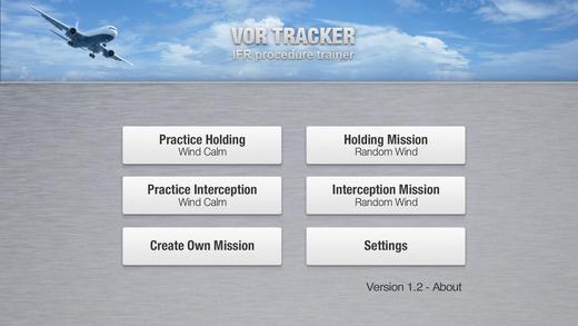 VOR Tracker - IFR Procedure Trainer for holding patterns and radial interceptions. Navigation for pi