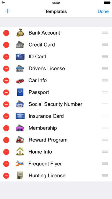 Screenshots of Password Manager Vault - FingerPrint Lock Account Wallet &1 Secure Passcode Safe for iPhone
