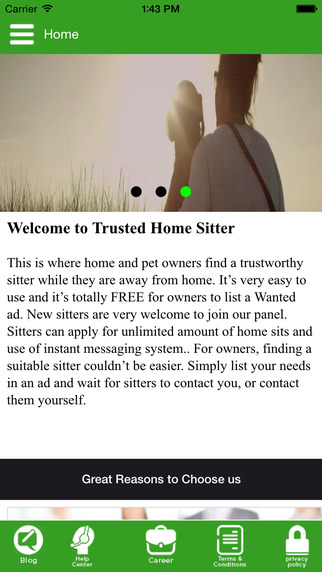Trusted Home Sitter