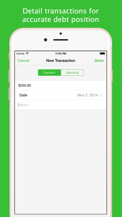 Debts iPhone Screenshot 2