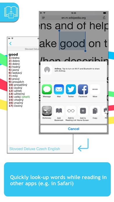 English <-> Czech Slovoed Deluxe talking dictionary iPhone Screenshot 3