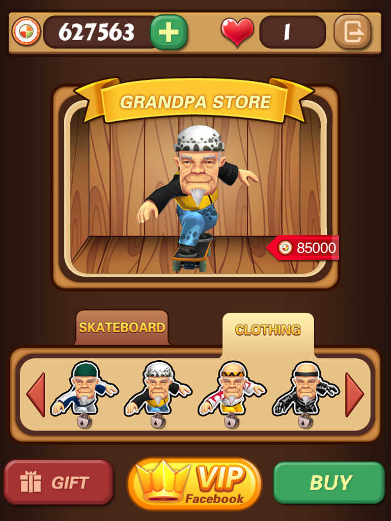Crazy Grandpa with a Chainsaw - Mobile Game for iPad iPhone Tablet