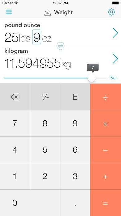 The Converter iPhone Screenshot 3
