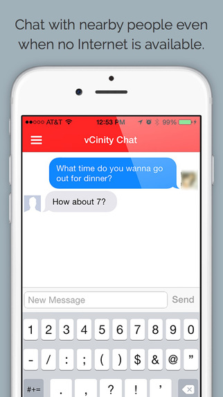 vCinity - Chat Without Internet Screenshots