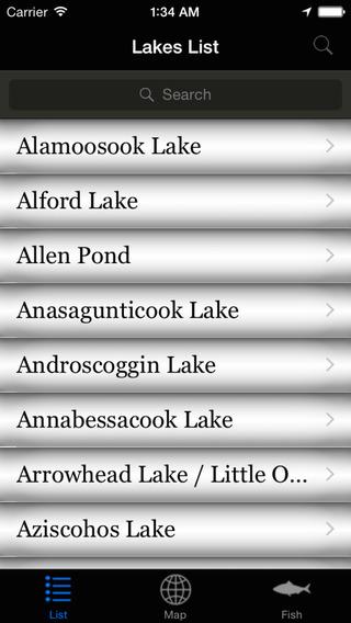 Maine Lakes - Fishing